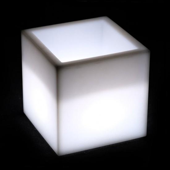 Кашпо с подсветкой LED Plaza B, 40*40*42 см., светодиодное, цвет белый, 220V