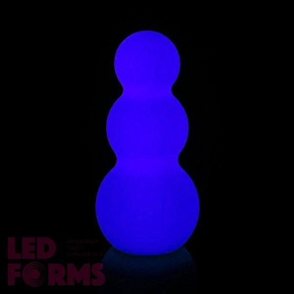 Светильник праздничный LED Снеговик, высота 46 см., светодиодный, разноцветный (RGB), встроенный аккумулятор