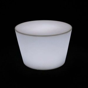Стол LED Oval Mini, 60*80*40 см., светодиодный, цвет белый, 220V