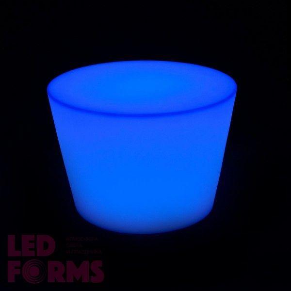 Стол LED Oval Uni, 60*80*50 см., светодиодный, разноцветный (RGB), встроенный аккумулятор