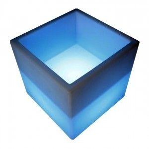 Блок светящийся с нишей LED Block, 40*40*40 см., разноцветный (RGB), встроенный аккумулятор
