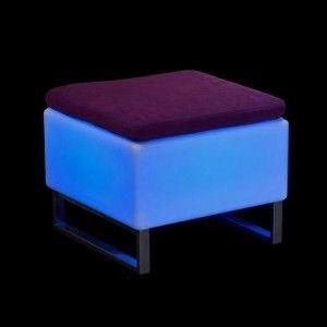 Светящийся стул-пуф с аккумулятором LED BINGO 60x60x45 см. с RGB подсветкой и пультом ДУ IP65 — Купить в интернет-магазине LED F