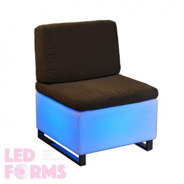 Стул с подсветкой LED Quadro Relax, 60*60*30 см., светодиодный, разноцветный (RGB), встроенный аккумулятор
