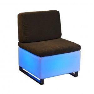 Светящееся мини кресло LED BINGO 60x60x30 см. c разноцветной RGB подсветкой и пультом ДУ IP65 220V