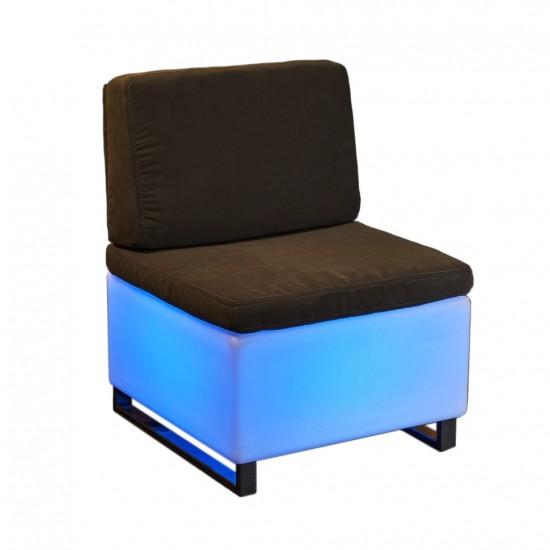 Светящееся мини кресло LED BINGO 60x60x30 см. c разноцветной RGB подсветкой и пультом ДУ IP65 220V — Купить в интернет-магазине