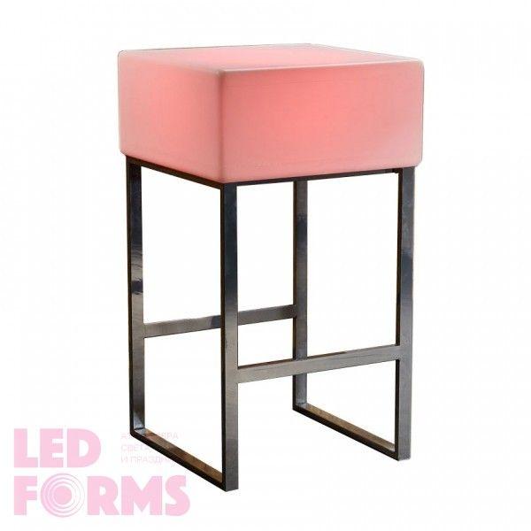 Стол барный светящийся LED Quadro, 60*60*110 см., светодиодный, разноцветный (RGB), 220V