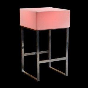 Стол барный светящийся LED Quadro, 60*60*110 см., светодиодный, разноцветный (RGB), встроенный аккумулятор