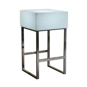 Стол барный светящийся LED Quadro, 60*60*110 см., светодиодный, цвет белый, 220V