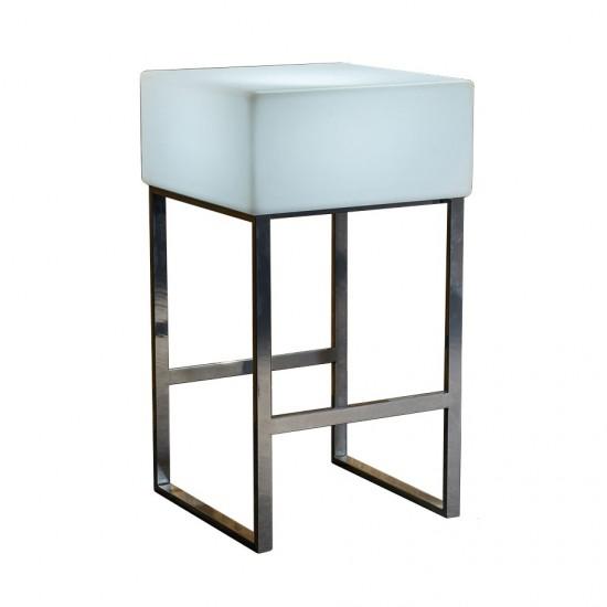 Светящийся барный стол LED BINGO 60x60x110 см. с белой светодиодной подсветкой IP65 220V — Купить в интернет-магазине LED Forms