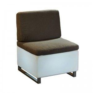 Светящееся мини кресло LED BINGO 60x60x30 см. с белой светодиодной подсветкой IP65 220V