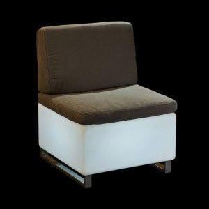 Светящееся мини кресло LED BINGO 60x60x30 см. с белой светодиодной подсветкой IP65 220V — Купить в интернет-магазине LED Forms