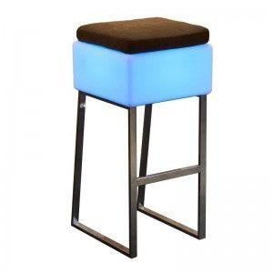 Светящийся барный стул с аккумулятором LED BINGO 40x40x80 см. с RGB подсветкой и пультом ДУ IP65 — Купить в интернет-магазине LE