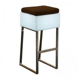 Светящийся барный стул LED BINGO 40x40x80 см. с белой светодиодной подсветкой IP65 220V