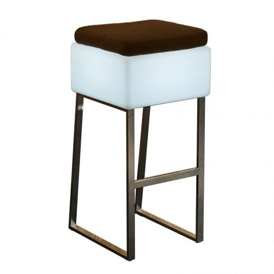 Светящийся барный стул LED BINGO 40x40x80 см. с белой светодиодной подсветкой IP65 220V — Купить в интернет-магазине LED Forms