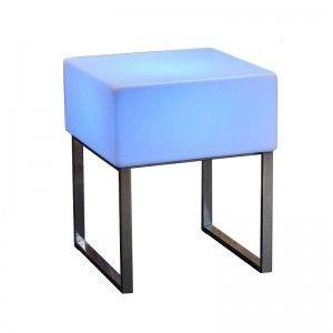 Стол светящийся LED Quadro, 60*60*75 см., светодиодный, разноцветный (RGB), с аккумулятором