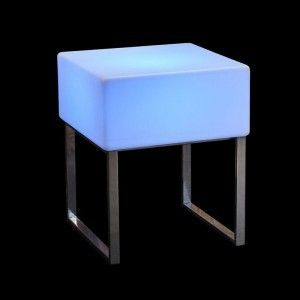Стол светящийся LED Quadro, 60*60*75 см., светодиодный, разноцветный (RGB), встроенный аккумулятор