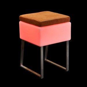 Стул с подсветкой LED Quadro Puff, 40*40*59 см., светодиодный, разноцветный (RGB), 220V
