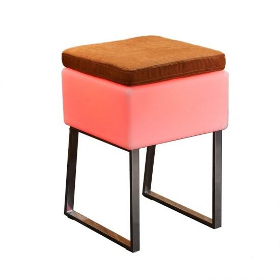 Светящийся стул с аккумулятором LED BINGO 40x40x60 см. с RGB подсветкой и пультом ДУ IP65 — Купить в интернет-магазине LED Forms