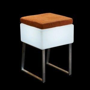 Стул с подсветкой LED Quadro Puff, 40*40*59 см., светодиодный, цвет белый, 220V