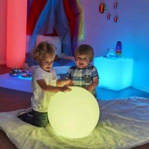 Светящийся шар LED Ball 40 см., с аккумулятором, разноцветный RGB, с пультом ДУ, IP68