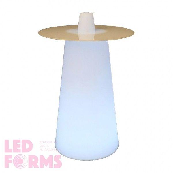 Стол барный LED Playboy, 63*36*110 cм., светодиодный, цвет белый, 220V