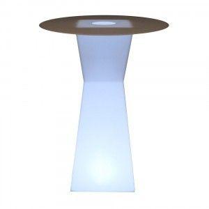Стол барный LED Prismo, 45*45*110 cм., светодиодный, цвет белый, 220V