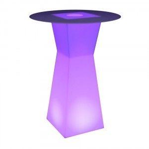 Стол барный LED Prismo, 45*45*110 cм., светодиодный, разноцветный (RGB), с аккумулятором