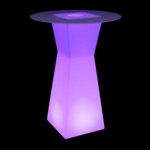 Стол барный LED Prismo, 45*45*110 cм., светодиодный, разноцветный (RGB), встроенный аккумулятор