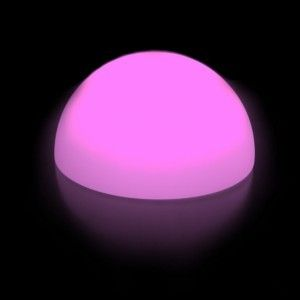 Полусфера светящаяся беспроводная LED, диам. 40 см., разноцветная (RGB), пылевлагозащита IP68, встроенный аккумулятор