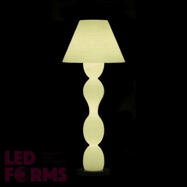 Светильник напольный (торшер) LED Trendy Bright, высота 143 см., светодиодный, цвет тёплый белый, пылевлагозащита IP65