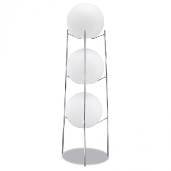 Стойка металлическая для трёх LED шаров диам. 40 см., хромированная