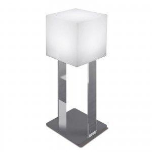 Куб светящийся LED Cube 30 см., на хромированной металлической стойке