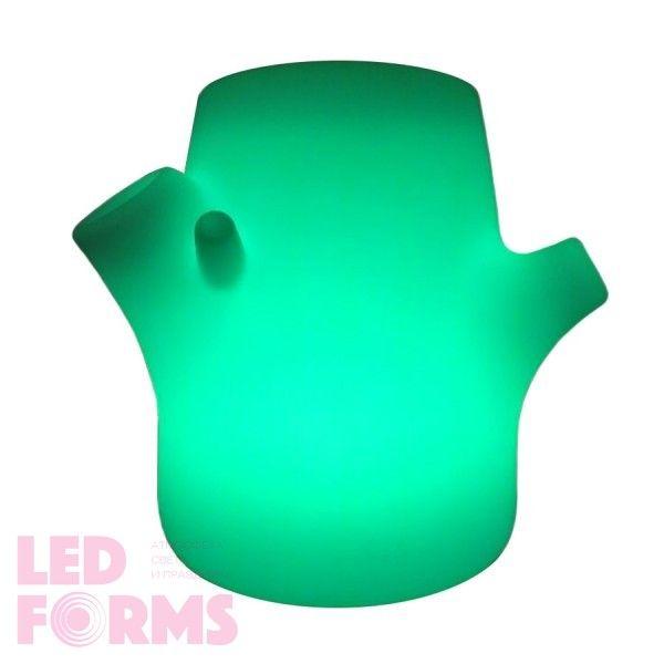 Кашпо светящееся (цветочница) LED Tree S, на 1 цветок, высота 30 см., светодиодное, разноцветное (RGB), пылевлагозащита IP65