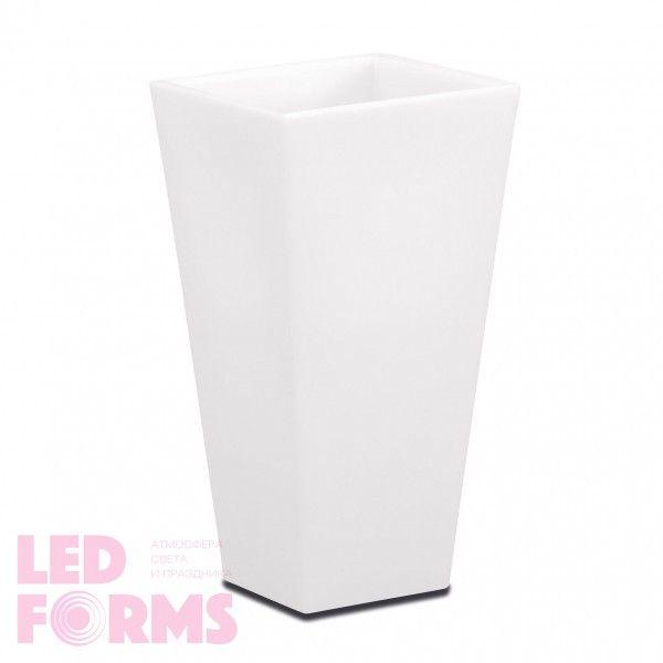 Кашпо светящееся (цветочница) LED Breda M, высота 78 см., светодиодное, разноцветное (RGB), пылевлагозащита IP65