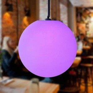 Подвесной светящийся LED Шар 50 см., светодиодный светильник, разноцветный RGB, с пультом ДУ, IP65