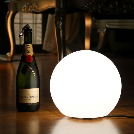 Шар светящийся LED, диам. 20 см., цвет тёплый или холодный белый, пылевлагозащита IP65, 220V