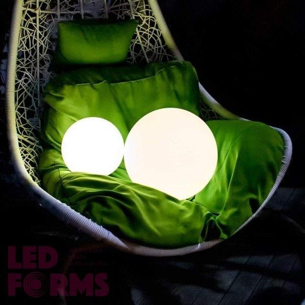 Шар светящийся беспроводной LED, диам. 20 см., разноцветный (RGB), пылевлагозащита IP68, встроенный аккумулятор