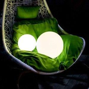 Шар светящийся беспроводной LED, диам. 20 см., разноцветный (RGB), IP68, с аккумулятором