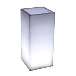 Кашпо с подсветкой для цветов LED Bora B, белое, IP65, 220V