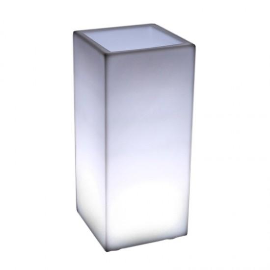 Светящееся кашпо для цветов LED BORA-2 c белой светодиодной подсветкой IP65 220V — Купить в интернет-магазине LED Forms