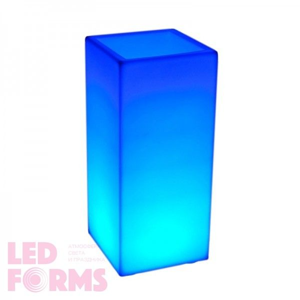 Кашпо с подсветкой LED Bora B, 31*31*70 см., светодиодное, разноцветное (RGB), встроенный аккумулятор