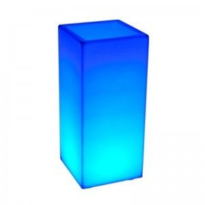 Светящееся цветочное кашпо с аккумулятором LED Bora B, с разноцветной RGB подсветкой и пультом ДУ, IP65