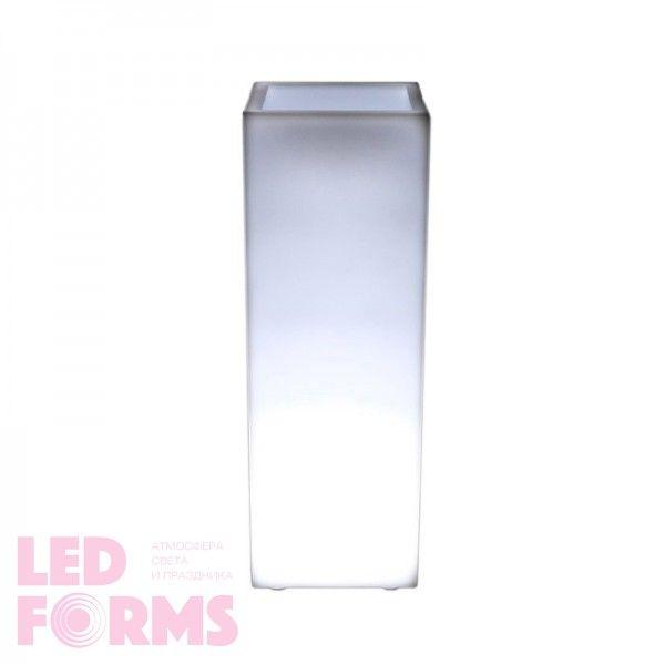 Кашпо с подсветкой LED Bora A, 31*31*90 см., светодиодное, цвет белый, 220V