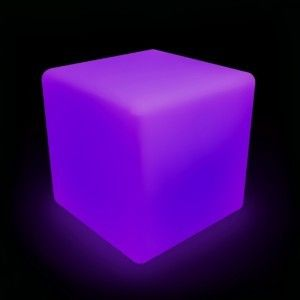 Светящийся куб LED Cube 80 см., разноцветный RGB, с пультом ДУ, IP65