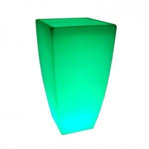 Кашпо с подсветкой для цветов LED Linea C, разноцветное RGB, IP65, с аккумулятором