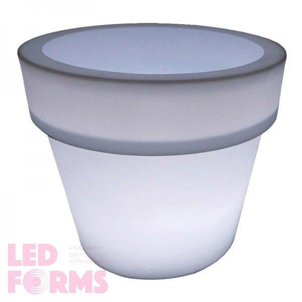 Кашпо светящееся LED Pot A, 116*79*98 см., светодиодное, цвет белый, 220V