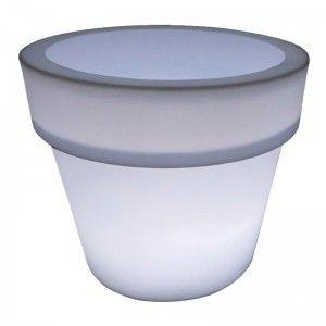 Кашпо с подсветкой для цветов LED Pot A, белое, IP65, 220V