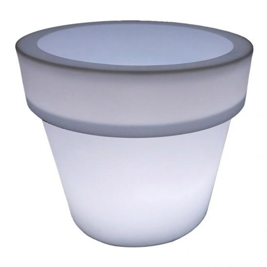 Светящийся вазон для цветов LED POT-1 c белой светодиодной подсветкой IP65 220V — Купить в интернет-магазине LED Forms