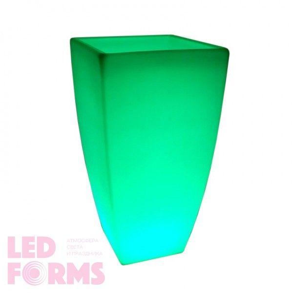 Кашпо светящееся LED Linea C, 72*41*136 см., светодиодное, разноцветное (RGB), 220V