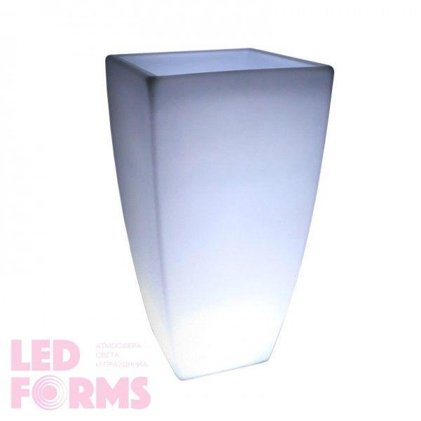 Светящееся кашпо для цветов LED LINEA-3 c белой светодиодной подсветкой IP65 220V — Купить в интернет-магазине LED Forms